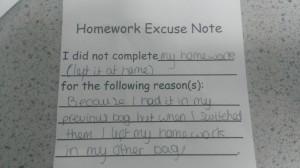 HomeworkExcuse